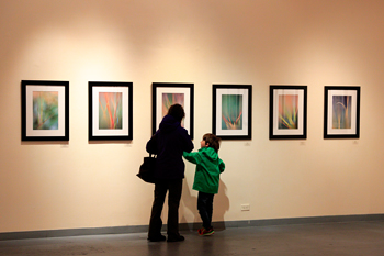 Young visitor in the McMahon Gallery.